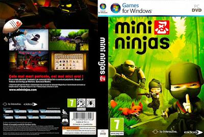 Jogo Mini Ninjas PC DVD Capa