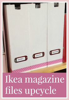 Ikea wooden magazine files crafty upcycle