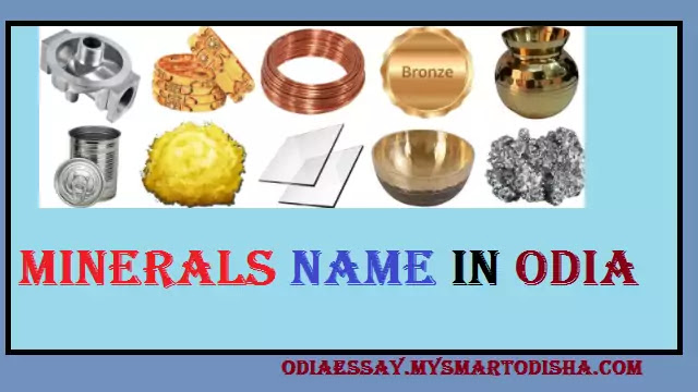 All Minerals Name in Odia | English Metal Names in Odia
