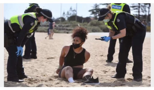 Freedom violates COVID's boundaries and crowds on Victoria's beaches, parks