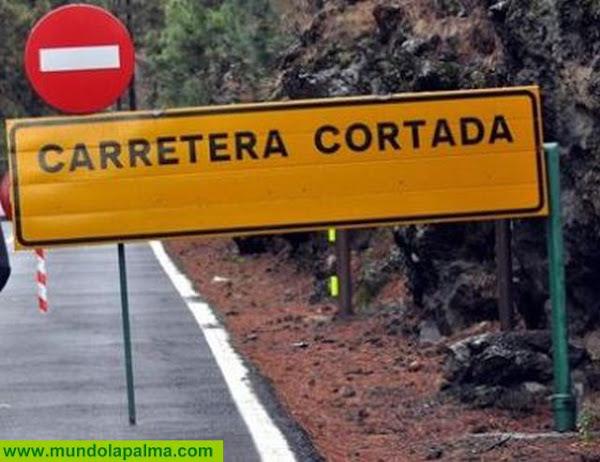 La Consejería de Obra Pública La Palma cierra varias carreteras ante la previsión meteorológica adversa del fin de semana