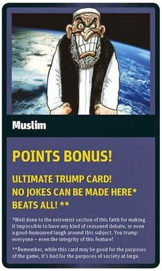 Funny World Religion Top Trumps Cards Muslim Islam Image