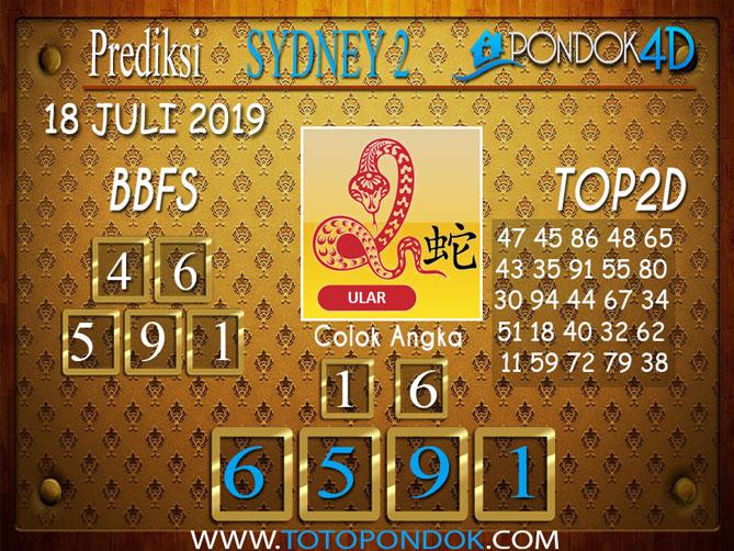 Prediksi Togel SYDNEY 2 PONDOK4D 18 JULI 2019