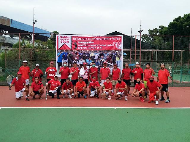 Komunitas Tenis Sario Manado Gelar MFG Edisi Spesial HUT ke-75 RI
