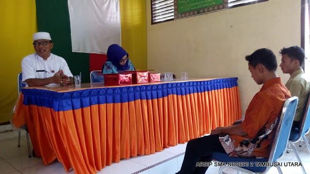 Penjemputan siswa PKL SMK N 2 Tambusai Utara di Kantor Camat Tambusai Utara