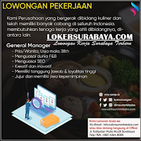 Info Lowongan Pekerjaan di Dimsum Mbledos Surabaya Januari 2020