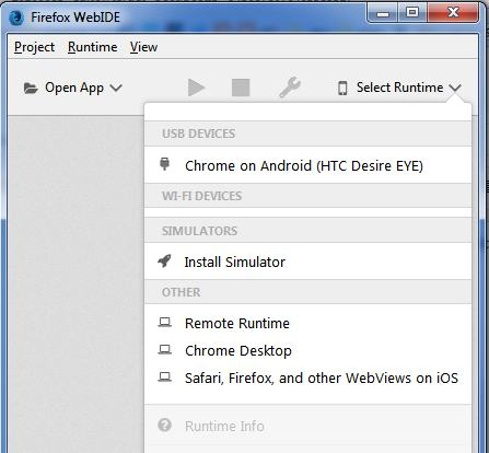 Debugging web apps on iOS from Windows using Firefox's WebIDE