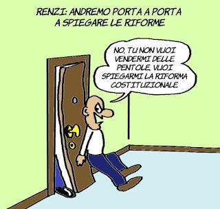 referendum costituzionale, riforme, renzi, vignetta, satira