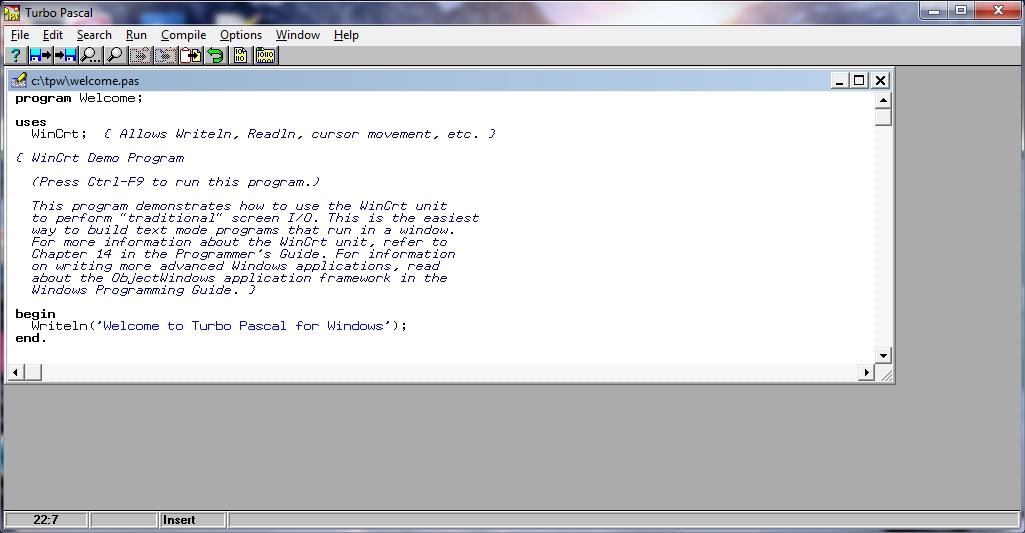 Turbo pascal 64 bit windows 7 download.