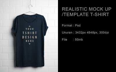 Download gratis realistic mock up/template t shirt