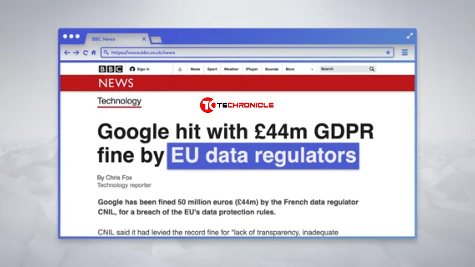 Google Data Regulations Screen Techronicle