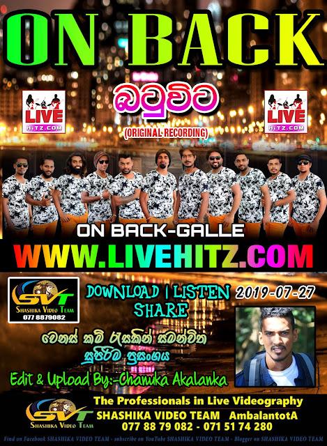 ON BACK LIVE IN BATUVITA 2019-07-27