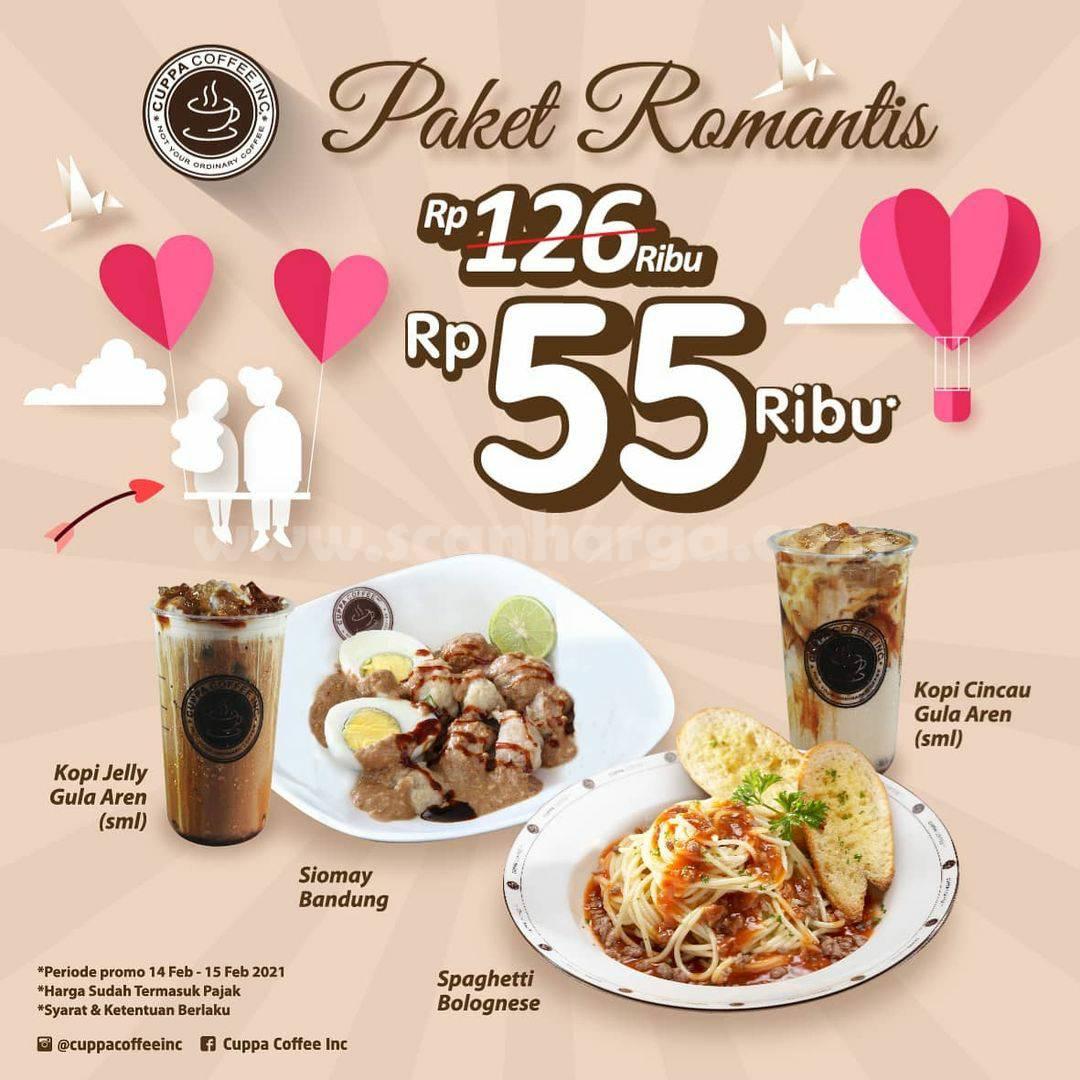 Cuppa Coffee Spesial Valentine! Promo Paket Romantis cuma Rp 55.000