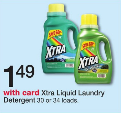 photograph regarding Xtra Laundry Detergent Printable Coupon known as Xtra laundry detergent coupon codes june 2018 - Pizza hut coupon