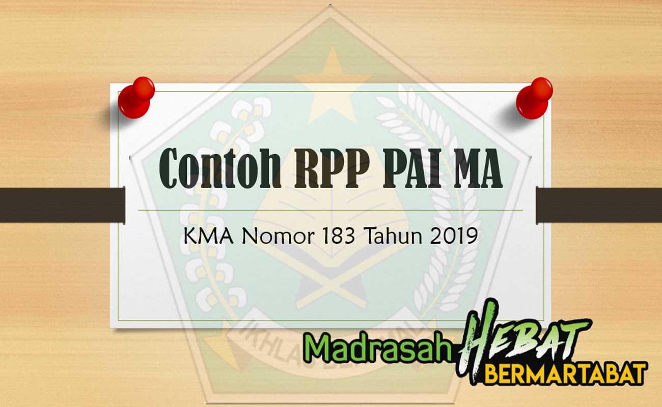 Contoh RPP PAI MA Mengacu Pada KMA 183 2019 Terbaru