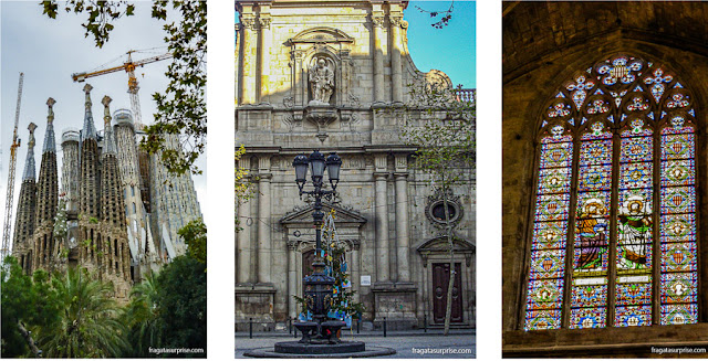 Igrejas de Barcelona: Sagrada Família, Sant Miquel del Port e Sant Just i Pastor