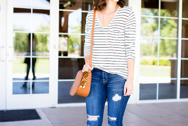 Ankle Skinny Jeans 7 FOR ALL MANKIND Fall Inspiration outfit