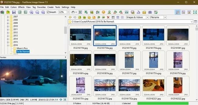 Windows 10 Photos البدائل Faststone
