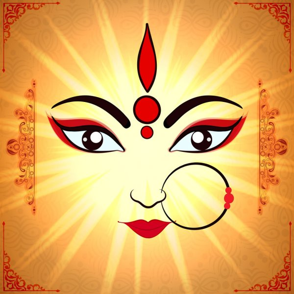 JAI MATA DI / MAA DURGA NAVRATRI GOOD MORNING WISHES IMAGES PHOTO PICS HD