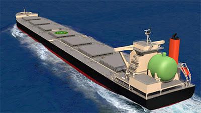 Transportador de carvão GNL