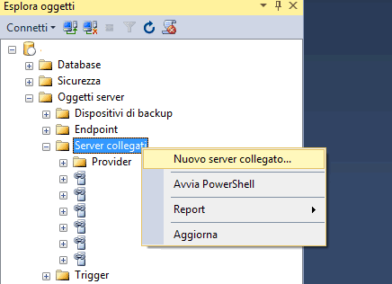 Come collegarsi a Mysql da Sql Server
