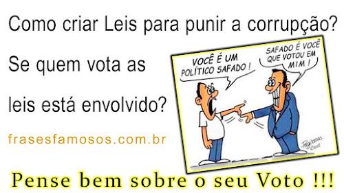 Não vote em Corrupto, use as eleições para mudar o Brasil