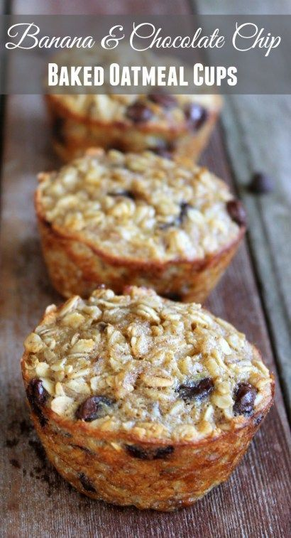 Banana and Chocolate Chip Baked Oatmeal Cups #recipes #healthybreakfast #breakfastrecipes #healthybreakfastrecipes #food #foodporn #healthy #yummy #instafood #foodie #delicious #dinner #breakfast #dessert #lunch #vegan #cake #eatclean #homemade #diet #healthyfood #cleaneating #foodstagram