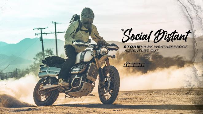 Social Distant on a 2020 Triumph Scrambler 1200XE