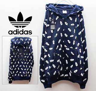 Jaket Adidas Fleece Biru Dongker Motiv Cabe 022 Originals