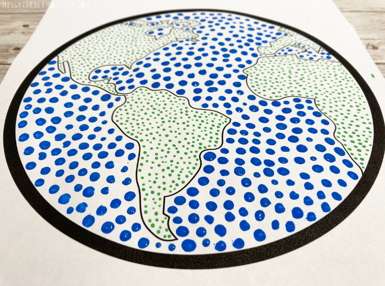 Earth dot painting