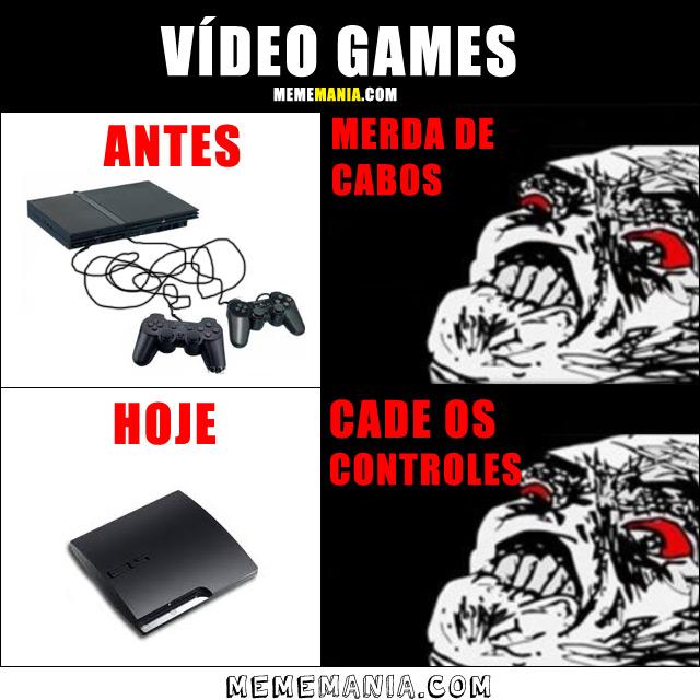 Vídeo Games: Antes x Hoje
