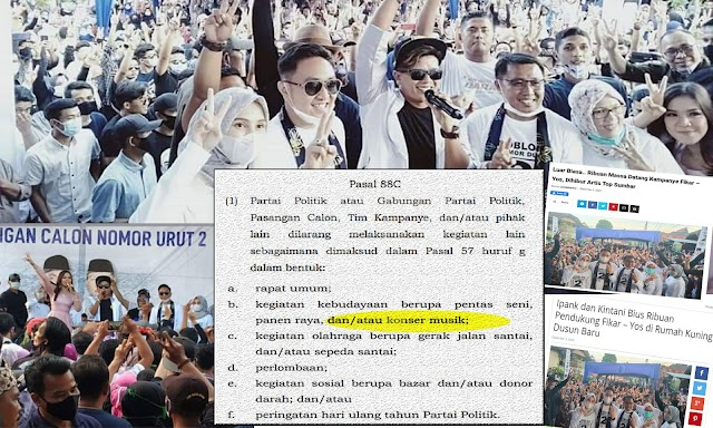 Hadirkan Artis Gelar Konser Musik, Fi-Yos Langgar PKPU No 13?