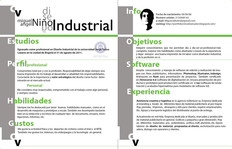 Pagina Personal Disenador Industrial Miguel Angel Nino Cv Miguel Nino