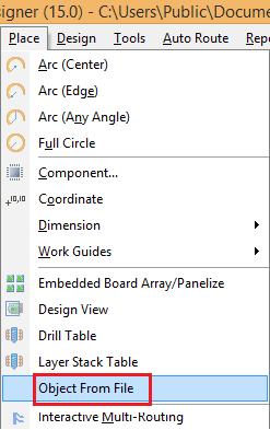 Nhúng hình ảnh, chữ vào PCB dùng OLE 1