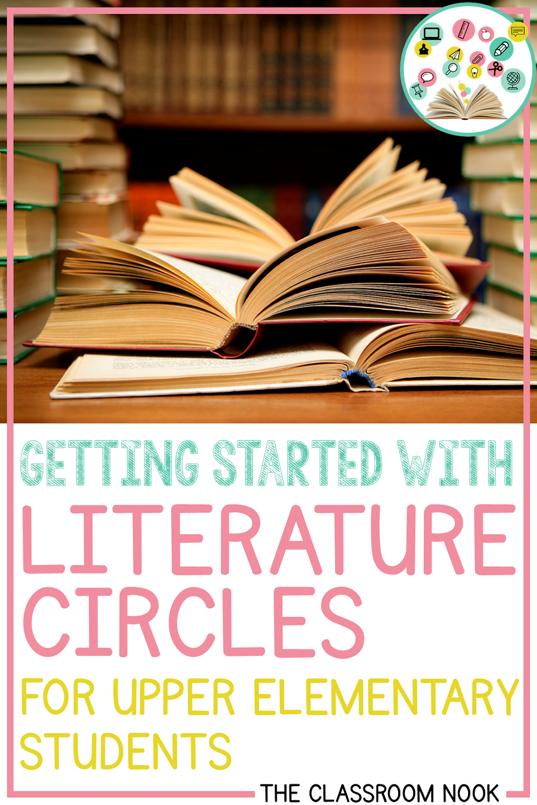 New to literature circles in the upper elementary classroom?  Check out this post with easy ways you can use literature circles effectively with your students!  #literaturecircles #teachingreading