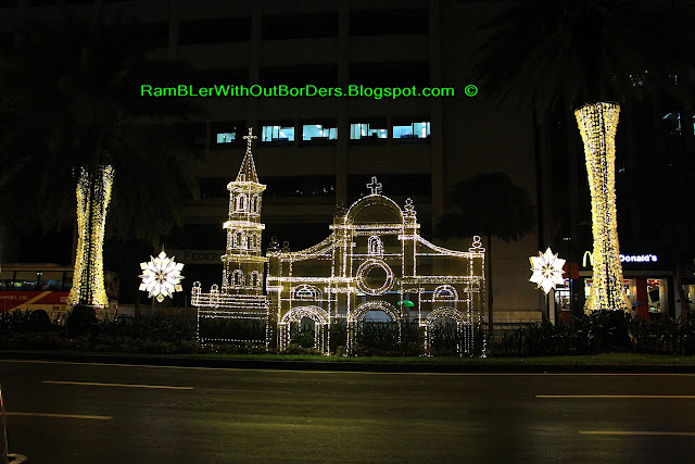 Light installation during Xmas season, Ayala Ave, Ayala Triangle Park, Makati, Manila, Philippines