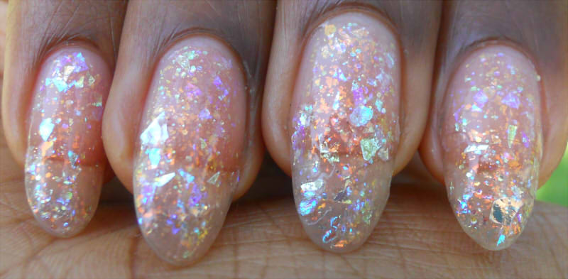Anise Tatau Galaxy And Opal Nails
