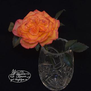английская роза керамическая флористика