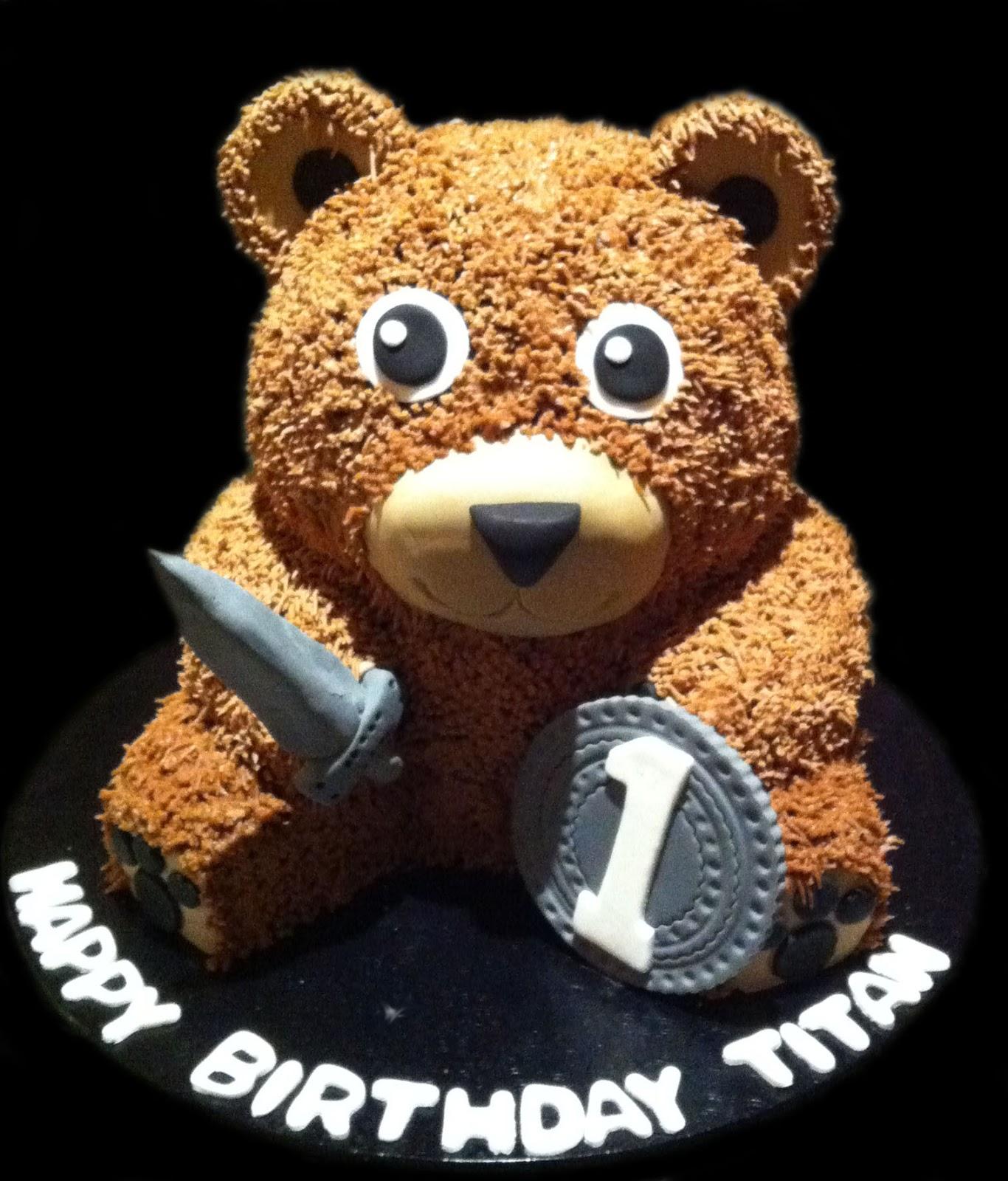 100 Teddy Bear Birthday Cake Tatty Teddy Bear Cake