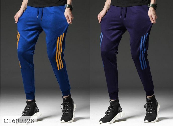 Pack of 2 Joggers For Men Online Shopping in India | Pack of 2 Poly Knit Solid with Side Stripe Slim Fit Joggers For Men | Joggers For Men Online Shopping | Mens Joggers Online Shopping | Joggers Online Shopping | Online Shopping in India | Online Shopping | Online Meri Dukaan |