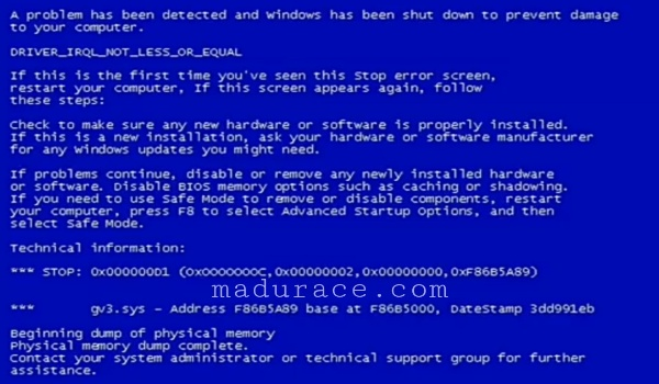 Blue Screen Komputer dan Laptop