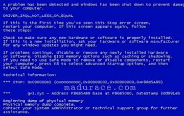3 Cara Untuk Mengatasi Layar Laptop Yang Muncul Warna Biru (Blue Screen)