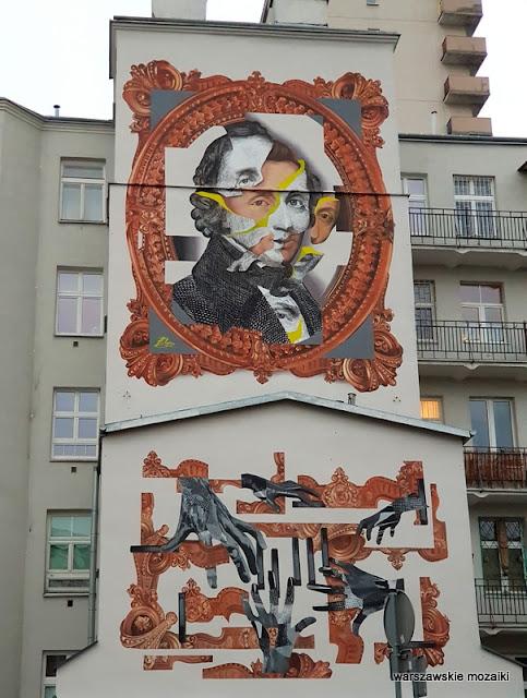 Warszawa Warsaw warszawskie murale murals graffiti muralart Fryderyk Chopin
