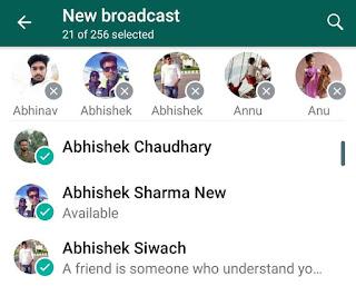 Add people in WhatsApp broadcast list
