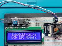 CARA PROGRAM I2C LCD KARAKTER 16x2 MENGGUNAKAN MODULE KAMERA ESP32-CAM