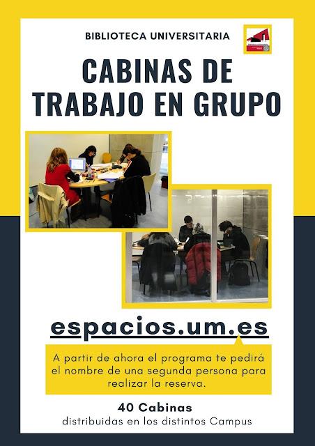 Novedades en reserva de CTG (Cabinas de Trabajo en Grupo)
