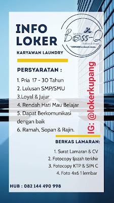Lowongan Kerja Boss-Q Laundry Sebagai Karyawan Laundry