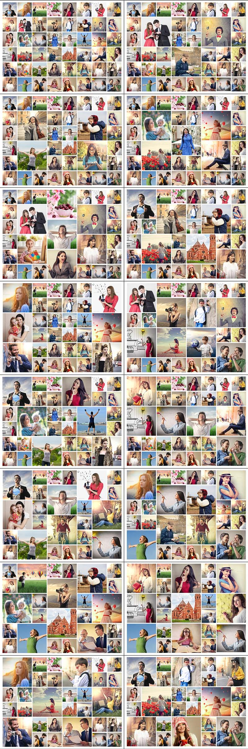 Collage Photo Display Action