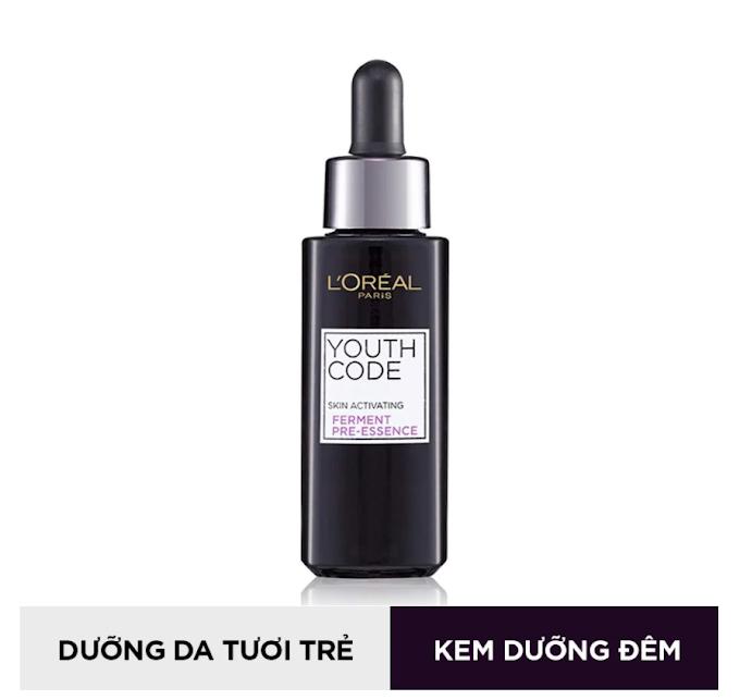 Hoạt chất tươi trẻ da chống lão hóa L'Oreal Paris Youth Code Skin Activating Ferment Pre-Essence 30ml