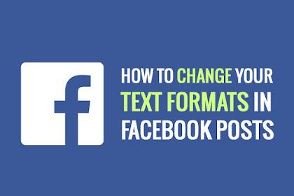 Cara Mudah Membuat Tulisan Tebal Miring Coret di Postingan Status Facebook